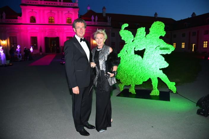 Grande Bal Masqué, Schloss Belvedere, Wien, 12.9.2015 Eveline und Walter Eselböck