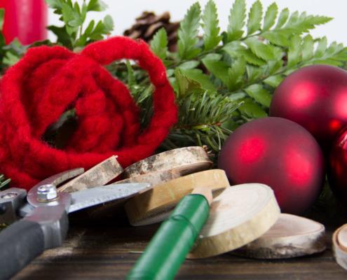 Material für DIY Adventkranz